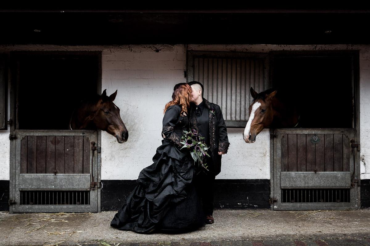 Steampunk Hochzeit mit Pferd